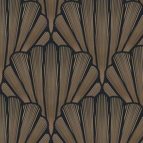 Art Deco shells (gold)