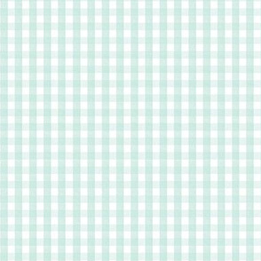 Gingham in Soft Teal