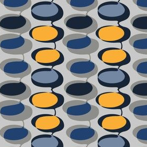 Bead curtain - yellow and grey
