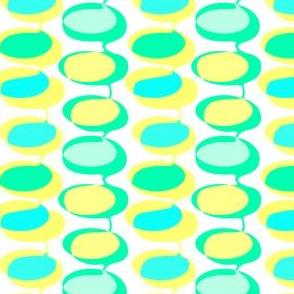 Bead curtain - yellow and aqua