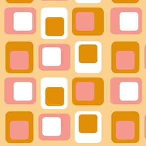 Sixties Squares - Apricot