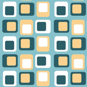 Sixties Squares - Teal