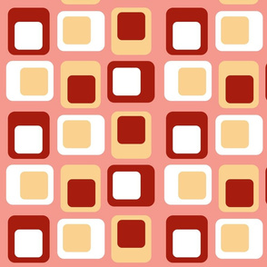 Sixties Squares - Coral