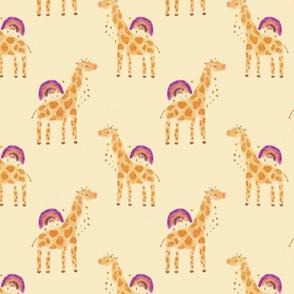 Rainbow Giraffe Small
