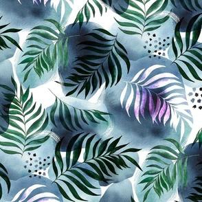 Watercolor jungle night