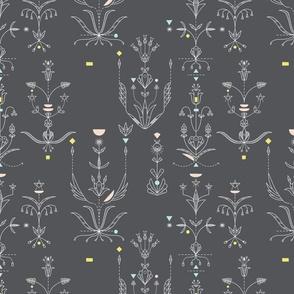 Midcentury Modern 1D (Dakota Floral)
