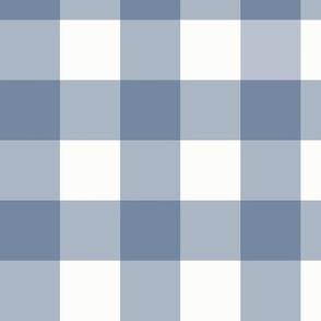 "1.5"" Slate Blue Gingham (medium): Dusty Blue Check, Buffalo Check, Buffalo Plaid"