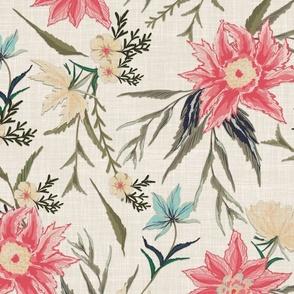 Pastel Floral Garden - Large Scale