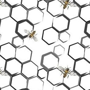honey hive monochrome