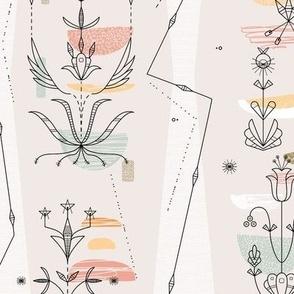 Midcentury Modern 3D (Dakota Floral)