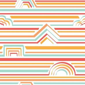 retro stripey shapes