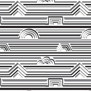 B&W stripey shapes small