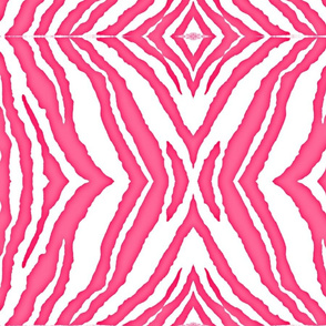 pink & white Zebra Stripe