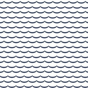 navy and white scallop, waves. pink and pure white scalloped pattern on fabric, wallpaper and decor.