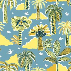 Palm Paradise_Blue