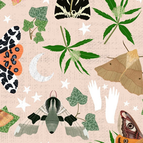 Moth Dance Bright - Large