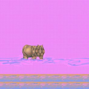 hippo sun dress & diaper cover