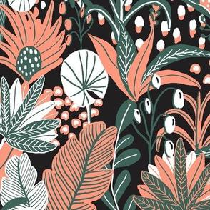 Small_Tropical Jungle_Black Orange