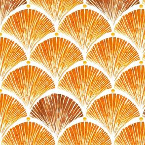 Watercolor shell orange