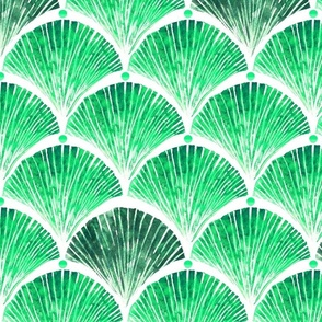 Watercolor shell green