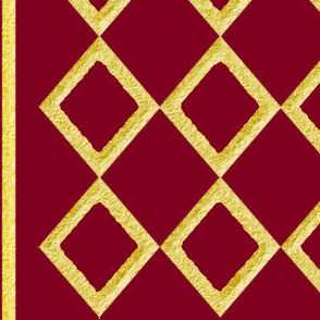 Burgundy with Gold