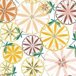 Fruit Slice Flowers in Citrus Colors