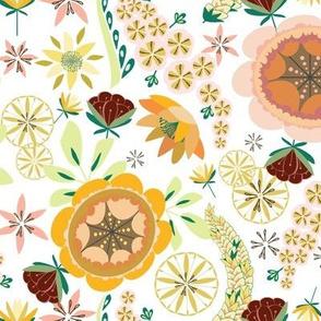 Summer Floral in Citrus Colors