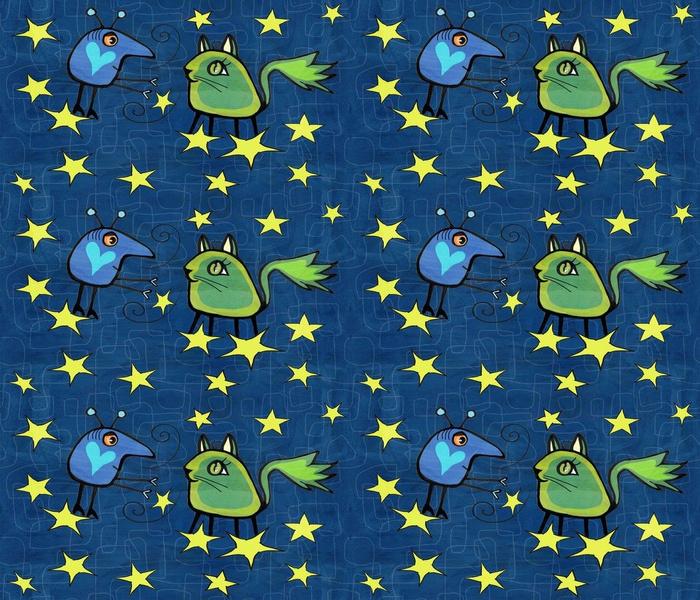 The green alien cat