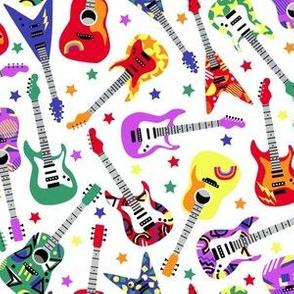 Rainbow guitars on white