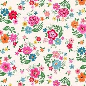 Ditsy folk flowers