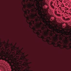 Dark Mandala Pink Pop