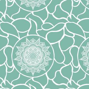green peaceful mandala