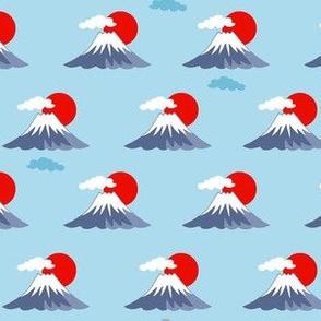 Mount Fuji - blue