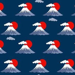 Mount Fuji - navy blue