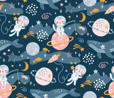 space cats ocean galaxy