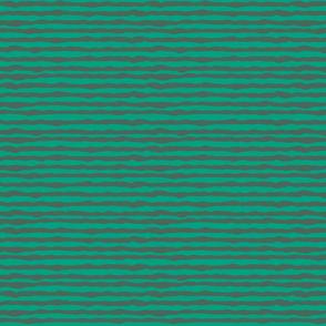 Double uneven green stripes