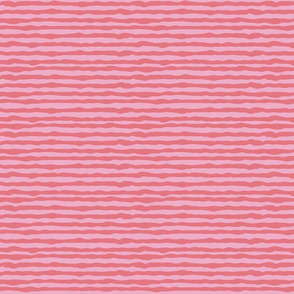 Uneven pink and red stripes