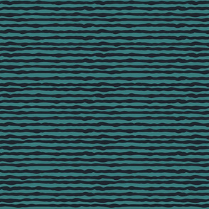Uneven black and teal stripes