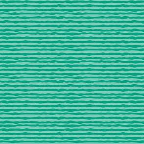 Uneven green stripes