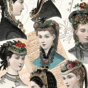 Beautiful Victorian Women in Hats