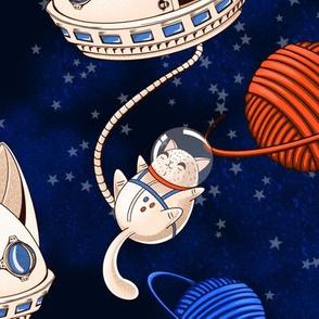 Astro Galaxy Cat big scale