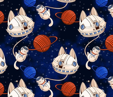 Astro Galaxy Cat big scale