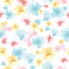 Watercolor Whimsy Flowers