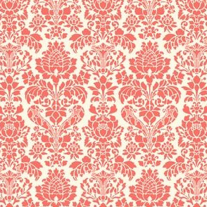 Balmoral Damask ~ Coral Reef and Cosmic Latte ~ Wee
