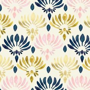Stylized Watercolor Lotus Pattern - Small