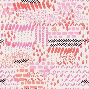 Summer abstract in hot pink
