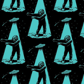 Bigfoot Floss Dance in UFO Beam