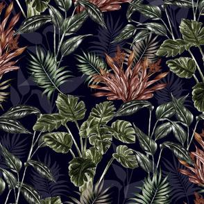 Midnight Tropical Flora