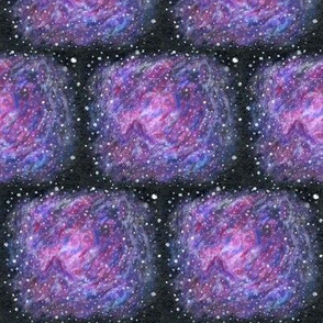 Nebula deep space stars hand-painted
