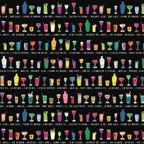 Line 'em up! - Speakeasy Cocktails on Black - Extra Small